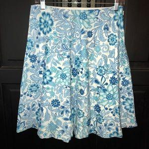 Gap brand turquoise, light blue and white skirt